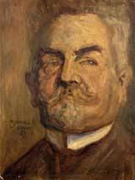 Portrait of Leopold Czihaczek aka Head of a Bearded Man I 1907